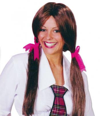 Schoolgirl Wig Brown