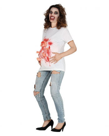 Pregnant Zombie Woman Costume Shirt