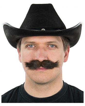 Schnurrbart Braun-Schwarz Meliert