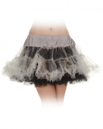 Black-grey Petticoat One Size