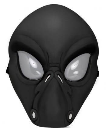 Black Alien Half Mask