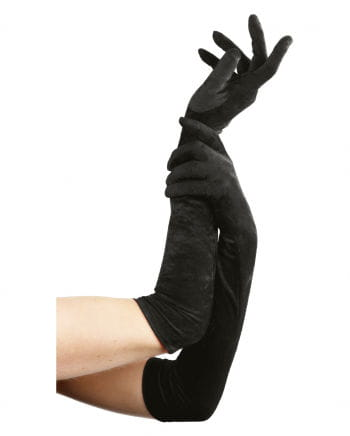 Black, elbow-length gloves off
