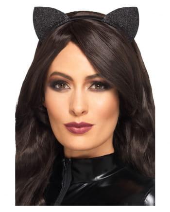 Black Glitter Cat Ears Vinyl