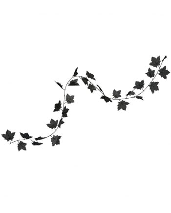 Black Halloween Leaves Garland 180 Cm
