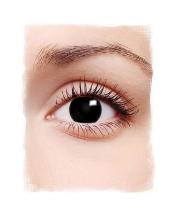 1-Tages Kontaktlinsen Hexe schwarz