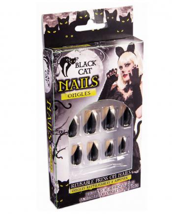 Schwarze Katzenkrallen Fingernägel