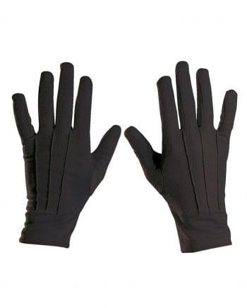 Black costume gloves unisex