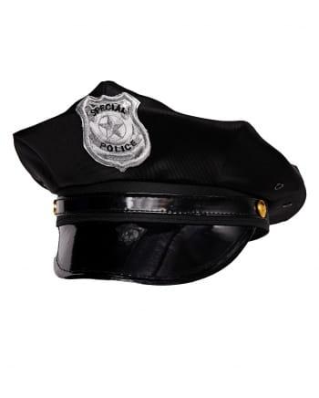 Special Police Polizeimütze schwarz