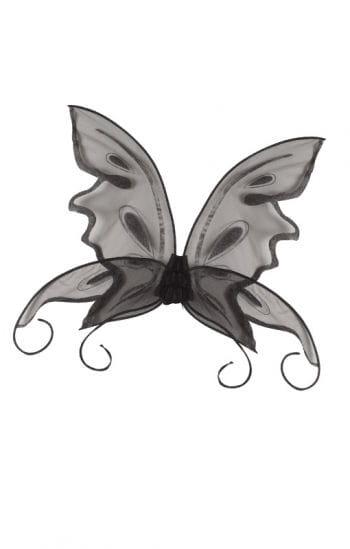 Butterfly wings black