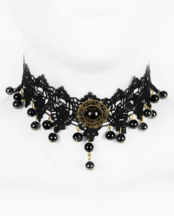 Victorian neck with black pearl Ketter