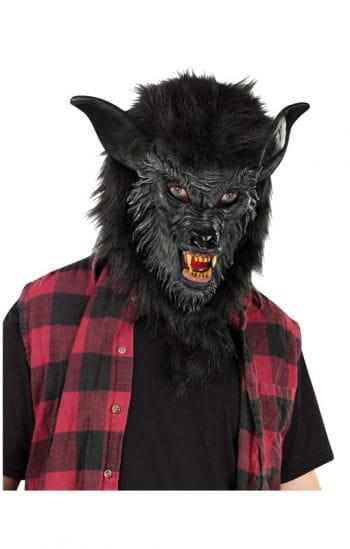 Werwolf Maske schwarz