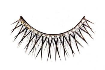 Black Eyelashes with Rhinestones