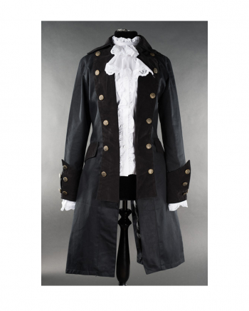 Ladies Pirate Coat Black