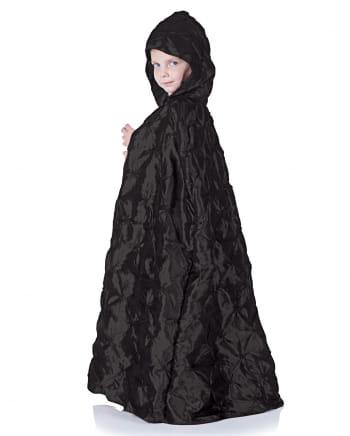 Black hooded cape for kids