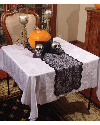 Black Spider Web Table Runner