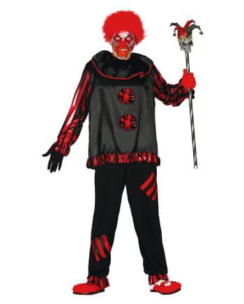 Black Zombie clown costume