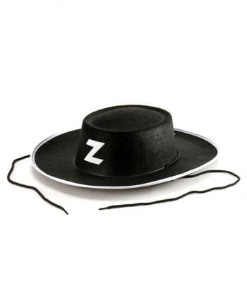 Schwarzer Zorro Hut