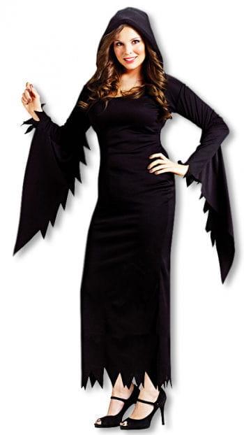 schwarzes kost m kleid mit kapuze xxl f r halloween karneval universe. Black Bedroom Furniture Sets. Home Design Ideas