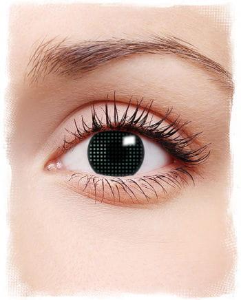 Mesh contact lenses Black