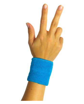 Sweat Wristband Neon Blue