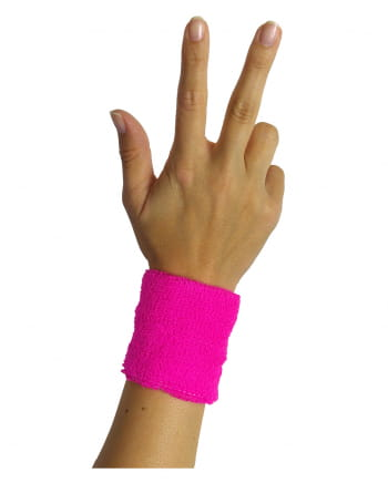 Sweat Wristband Neon Pink