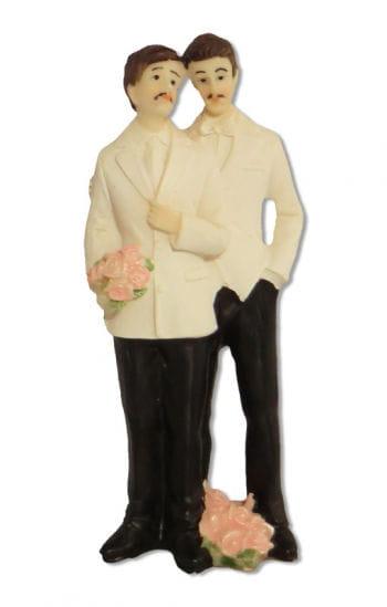 Schwules Hochzeitspaar Torten-Dekoration11,5 cm