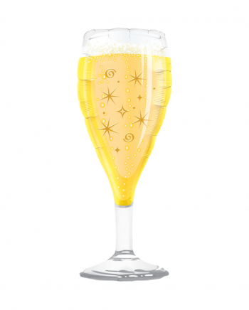 Champagne Glass Foil Balloon XXL 100 Cm