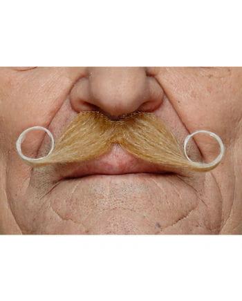 heather Adhesive handlebar mustache blond