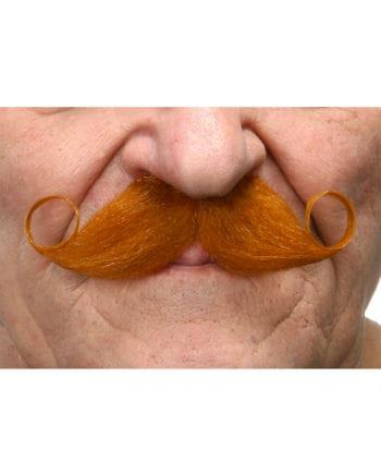 Self-adhesive red handlebar mustache