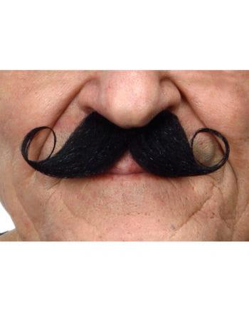 Self-adhesive black handlebar mustache