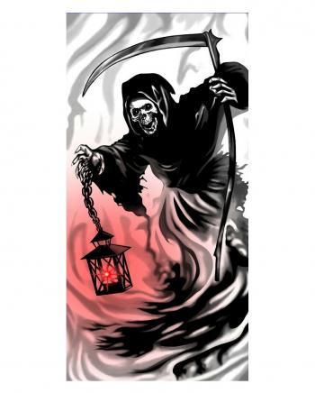 Grim Reaper Türfolie mit LED Licht