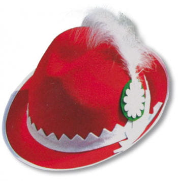 Traditional Bavarian Hat Red