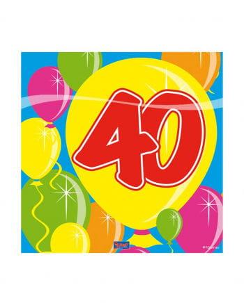 40. Geburtstag Servietten