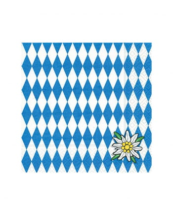 Bavaria Napkin With Edelweiss 20 Pieces