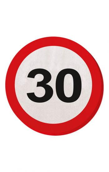 Papier Serviette Verkehrsschild 30