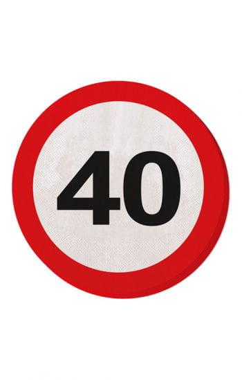 Papier Serviette Verkehrsschild 40