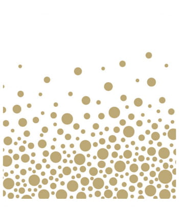 Goldene Punkte Papierservietten 20 St.