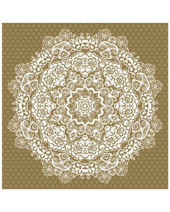 Napkins Mandala gold-white 20 pcs.