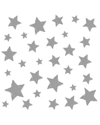 Servietten Sterne silber 20 St.
