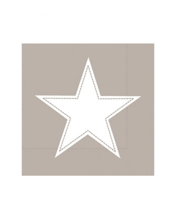 Big Star Napkins Taupe 20 Pieces