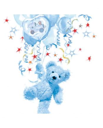 Servietten blau Teddy Boy 20 St.