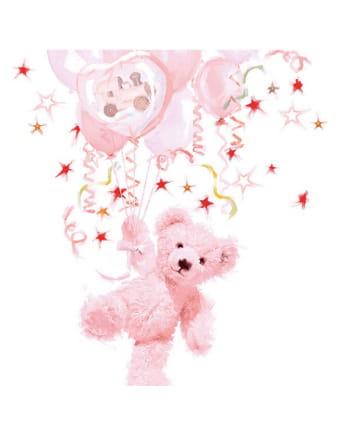 Napkins Teddy Girl pink 20 pc.