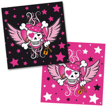 Pirate Girl Napkins Serviettes For Girls Birthday Parties With A
