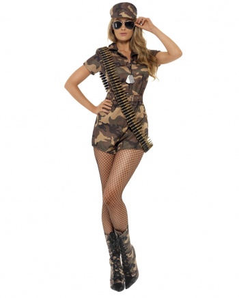 Sexy Army Girl With Shorts Costume