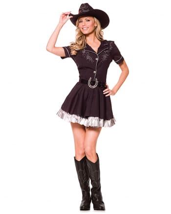 Cowgirl Kostüm mit Cowboy Hut XL