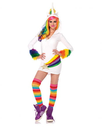 Kostüm-Kleid Einhorn mit Kapuze