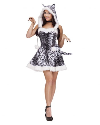 Sexy Snow Leopard Costume Dress