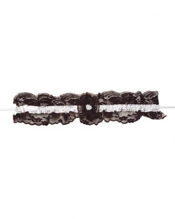 Sexy lace garter black / white