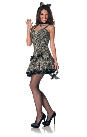 Sexy Leoparden Mini-Kleid