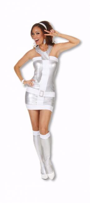 Sexy Metallic Mini Dress